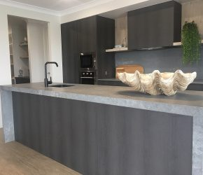 GJ Gardner M&R Kitchens Caesarstone Rugged Concrete 3