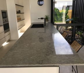 Hewitson Homes Caesarstone Turbine Grey & Intense White RJK 1